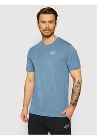Fox Racing T-Shirt Burnt 26970 Niebieski Regular Fit. Kolor: niebieski