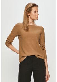 Beżowy sweter Marc O'Polo z długim rękawem, na co dzień