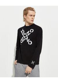 Kenzo - KENZO - Koszulka z długim rękawem Sport. Kolor: czarny. Materiał: bawełna. Długość rękawa: długi rękaw. Długość: długie. Wzór: aplikacja. Sezon: lato. Styl: sportowy