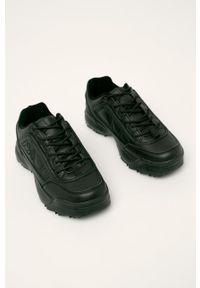 Czarne sneakersy Kappa na sznurówki, z cholewką