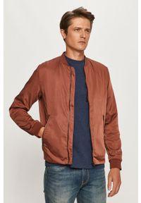 Brązowa kurtka Premium by Jack&Jones casualowa, na co dzień