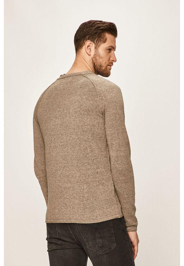 Szary sweter rozpinany Jack & Jones raglanowy rękaw