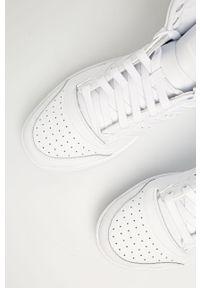 Białe sneakersy adidas Originals z cholewką, z okrągłym noskiem