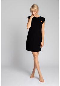e-margeritka - Sukienka bawełniana mini bez rękawów - xl. Okazja: na co dzień. Materiał: bawełna. Długość rękawa: bez rękawów. Typ sukienki: proste. Styl: casual. Długość: mini