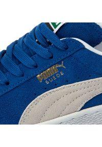 Niebieskie buty sportowe Puma z cholewką, Puma Suede