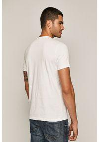 Biały t-shirt medicine z okrągłym kołnierzem, z nadrukiem #5