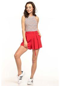 Różowe spodnie Tessita krótkie