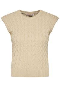 Beżowy sweter klasyczny Rinascimento