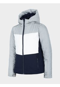 Wielokolorowa kurtka narciarska 4f ze stójką, na zimę