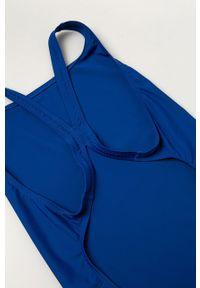 Niebieski strój jednoczęściowy adidas Performance z odpinanymi ramiączkami