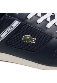 Lacoste - Sneakersy LACOSTE - Menerva Sport 0721 1 Cma 7-41CMA0005092 Nvy/Wht. Okazja: na co dzień. Kolor: niebieski. Materiał: skóra, materiał. Szerokość cholewki: normalna. Styl: sportowy