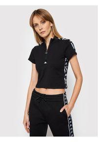 Kappa T-Shirt Hada 308059 Czarny Slim Fit. Kolor: czarny