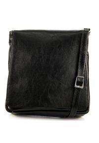 Czarna torebka DAN-A w kolorowe wzory
