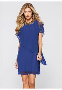 Niebieska sukienka bonprix asymetryczna
