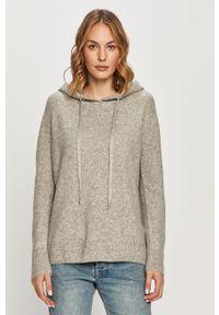 Szary sweter Morgan z długim rękawem, casualowy, długi