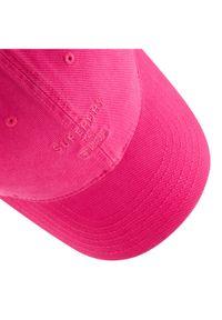 Różowa czapka z daszkiem Superdry