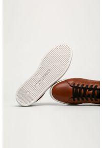 Sneakersy vagabond na sznurówki, z cholewką, z okrągłym noskiem