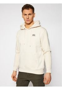 Alpha Industries Bluza Basic Small Logo 196318 Beżowy Regular Fit. Kolor: beżowy