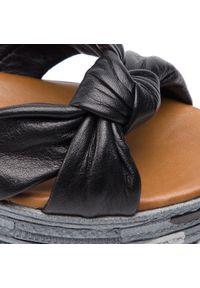 Czarne sandały Piazza na co dzień, casualowe