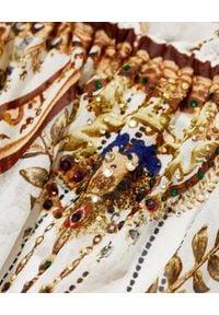Camilla - CAMILLA - Sukienka z hiszpańskim dekoltem Mind Your Manor. Kolor: brązowy. Materiał: jedwab. Typ sukienki: rozkloszowane