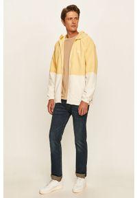 Żółta kurtka Levi's® w kolorowe wzory, na co dzień, z kapturem, biznesowa