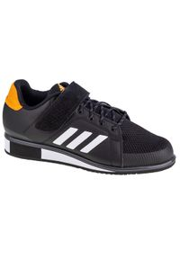 Czarne buty treningowe Adidas w kolorowe wzory, z cholewką