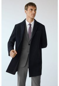 Niebieski płaszcz Mango Man bez kaptura, na co dzień, casualowy