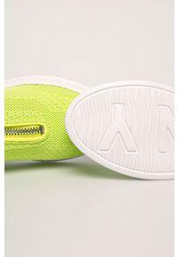 Buty sportowe DKNY z okrągłym noskiem, na średnim obcasie, z cholewką, na obcasie