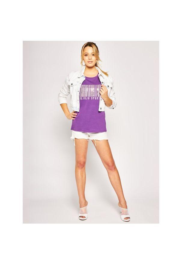 Fioletowy t-shirt Liu Jo Sport sportowy