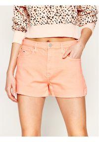 Pomarańczowe szorty jeansowe Tommy Jeans