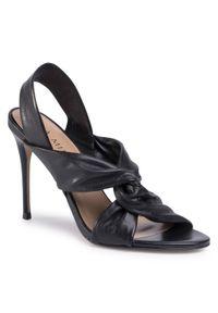 Czarne sandały Eva Minge eleganckie