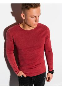 Czerwony sweter Ombre Clothing