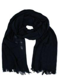 Niebieski szalik V. Fraas na zimę, klasyczny