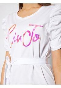 Liu Jo Sukienka codzienna WA1246 J5703 Biały Regular Fit. Okazja: na co dzień. Kolor: biały. Typ sukienki: proste. Styl: casual