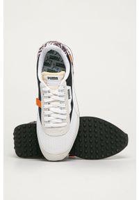 Białe sneakersy Puma na sznurówki, z cholewką