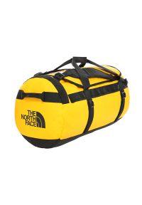 Żółta torba sportowa The North Face w paski
