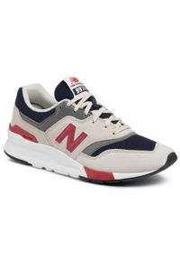 Beżowe sneakersy New Balance w kolorowe wzory