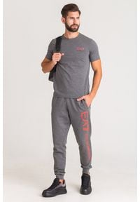 Spodnie dresowe EA7 Emporio Armani w kolorowe wzory