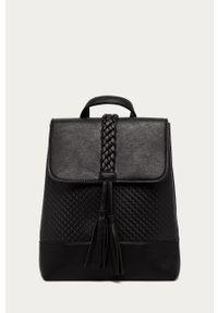 Czarny plecak Answear Lab gładki, wakacyjny