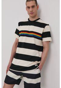 Vans - T-shirt PRIDE. Okazja: na co dzień. Kolor: biały. Materiał: dzianina. Styl: casual