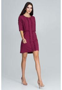 Czerwona sukienka Figl elegancka, mini