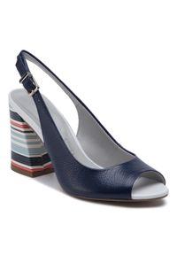 Niebieskie sandały Loretta Vitale casualowe, na co dzień