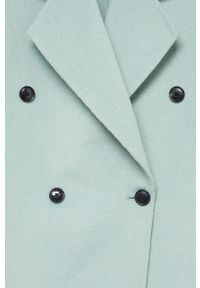Zielony płaszcz mango bez kaptura, klasyczny