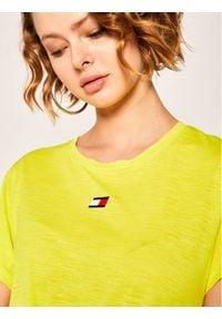 Tommy Sport T-Shirt Performance Lbr S10S100444 Żółty Regular Fit. Kolor: żółty. Styl: sportowy