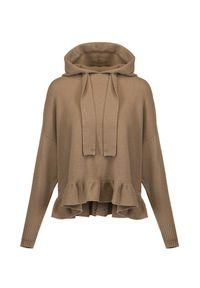 Allude - Sweter z kapturem ALLUDE. Typ kołnierza: kaptur. Materiał: kaszmir, wełna