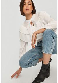 Biała bluzka Answear Lab wakacyjna, długa, na co dzień