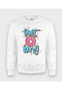 MegaKoszulki - Bluza klasyczna Donut Worry. Styl: klasyczny