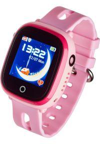 Różowy zegarek Garett Electronics smartwatch
