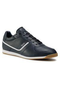 Niebieskie sneakersy BOSS z cholewką