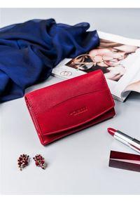 4U CAVALDI - Portfel damski czerwony Cavaldi RD-06-GCL RED. Kolor: czerwony. Materiał: skóra